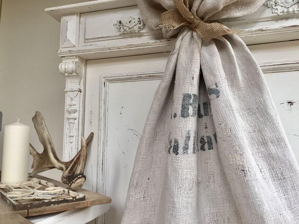 Copridivano Shabby Chic : Sack leinen mehlsack antik alt vintage bauer nikolaus weihnachten