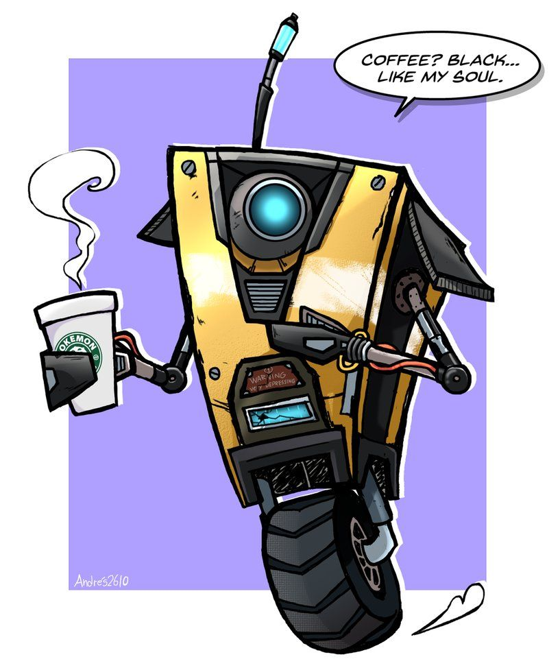 Art Trade Claptrap Borderlands By Andres2610 Borderlands Borderlands Series Lilith Borderlands