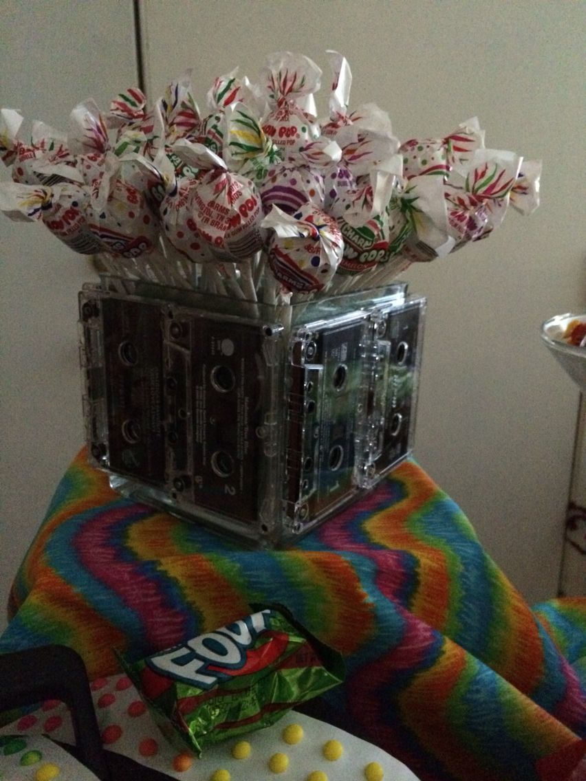 90 39 s candy table centerpiece candy table ideas for 90s party decoration ideas