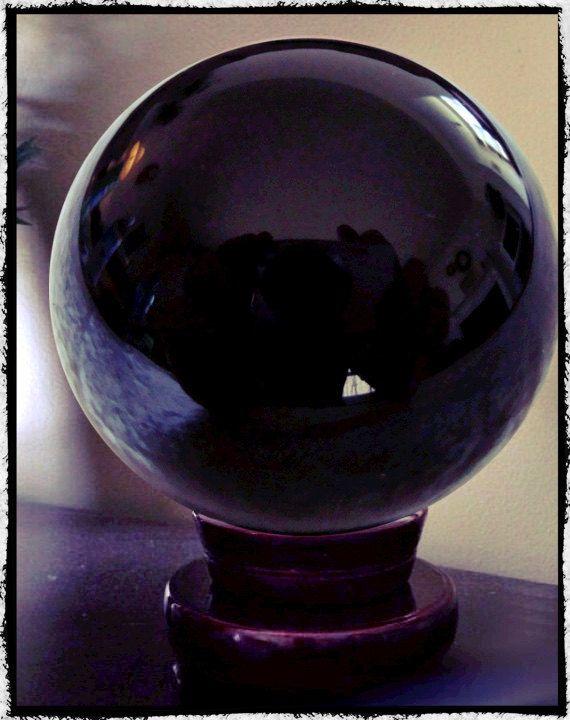 Large Obsidian Crystal Ball 4 5