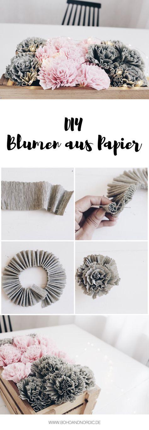 Diy blumen aus krepppapier flores de papel papel y flores diy blumen aus papier in dieser anleitung zeige ich dir wie man wunderschne blumen solutioingenieria Choice Image