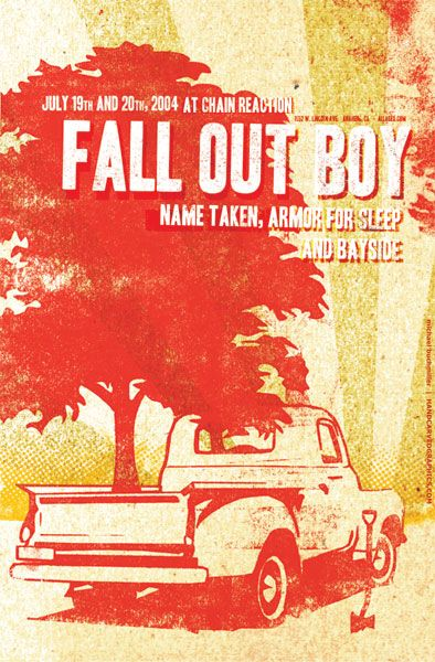 Part 2 125 Concert Posters Inspiredology Fall Out Boy Poster Fall Out Boy Concert Posters