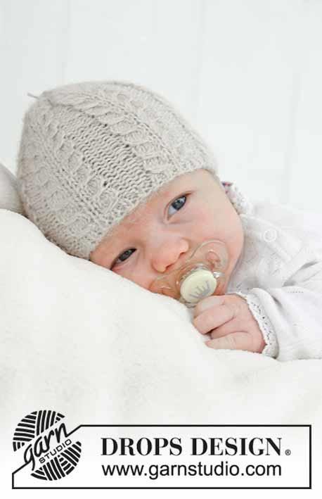 31 1 Baby Akorn By Drops Design Børnestrik Baby Hats Knitting