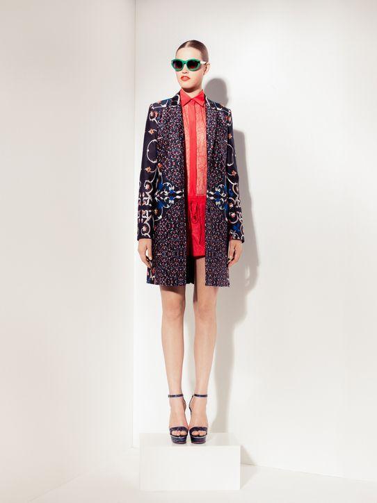 This coat rocks. Peter Som's Inspiration: Get exotic florals
