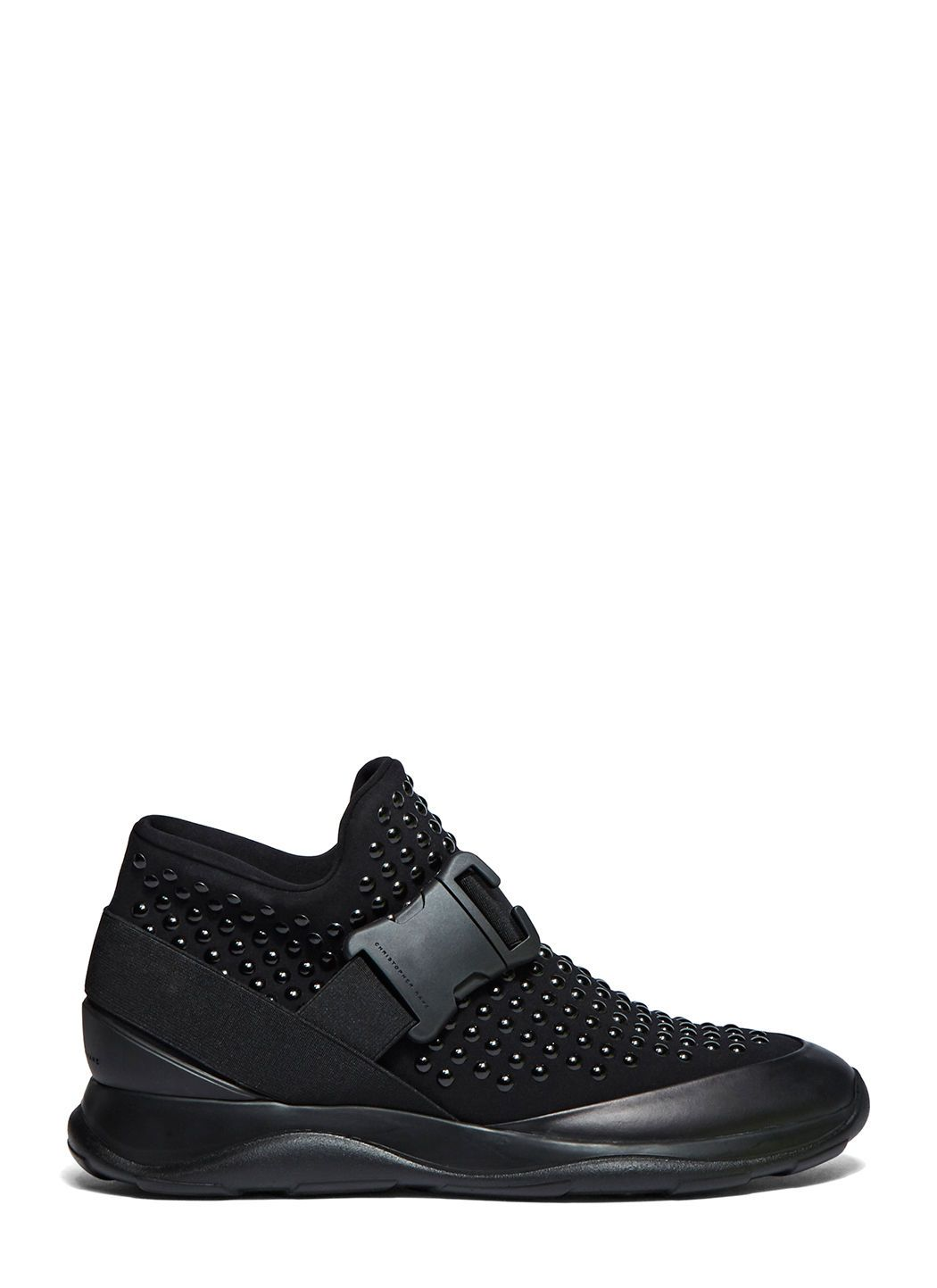 Christopher Kane Designer Shoes, Neoprene High Top Women's Sneakers