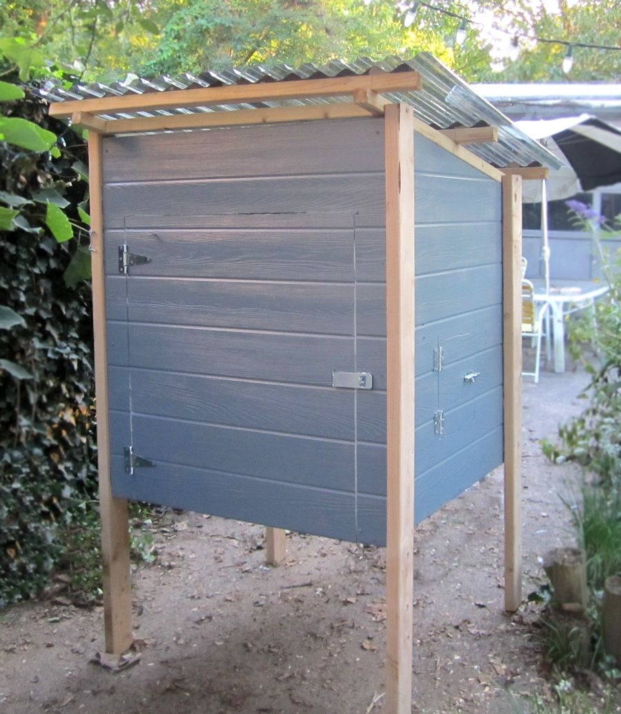 basic plywood chicken coop built from plans backyard chickens