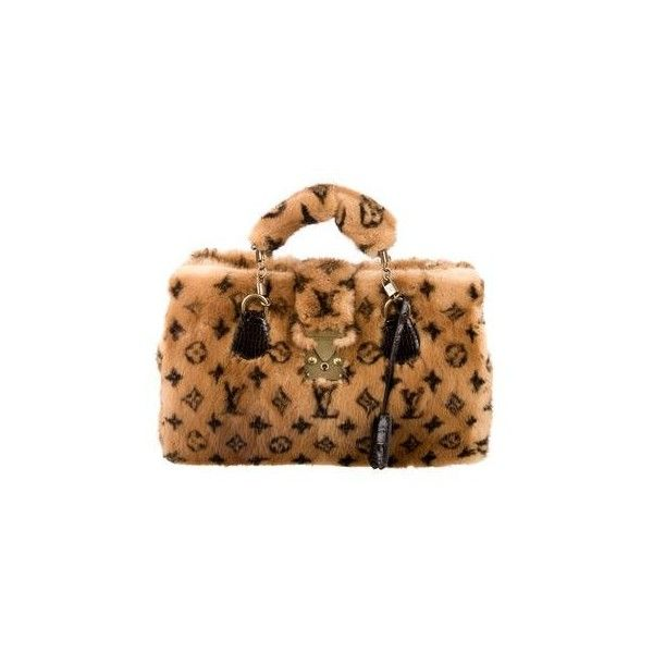 8b356bf30e256b Louis Vuitton Mink Alligator Vision Le Fabuleux Bag ($6,500) ❤ liked on  Polyvore featuring bags, handbags, alligator bag, brown handbags, brown bag,  ...