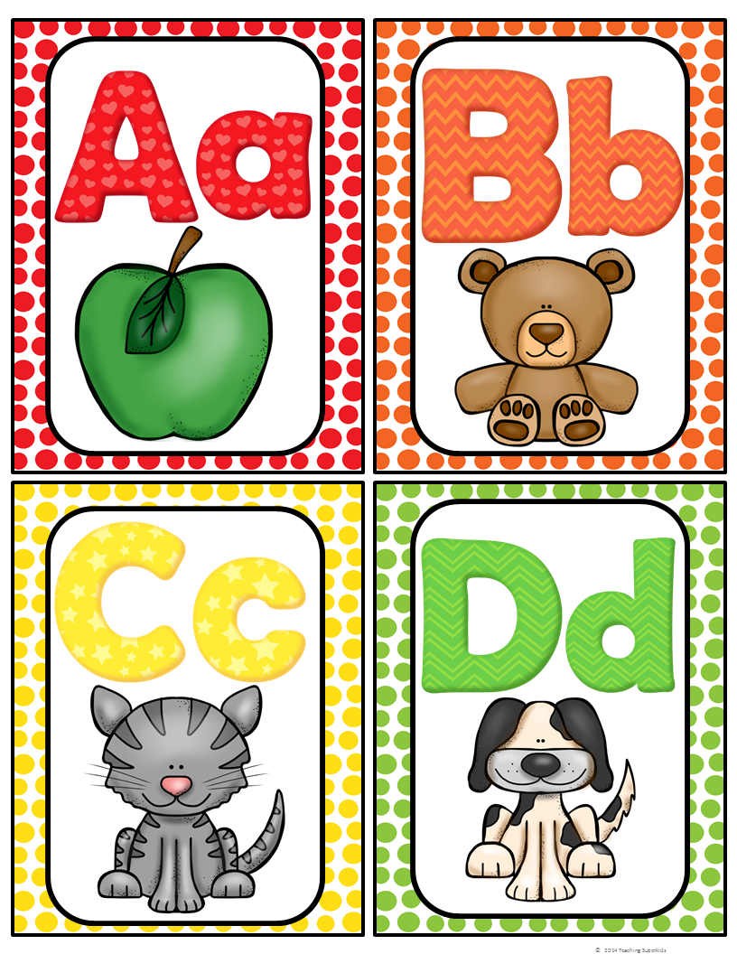 FREE!! Here is a cute set of Alphabet cards for your
