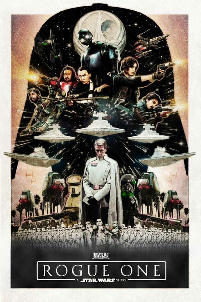 Star Wars Rogue One movie poster The force is strong here - poster für die küche
