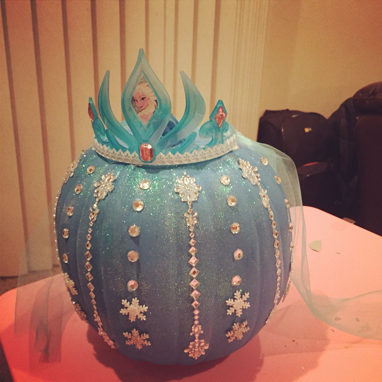 frozen inspired elsa pumpkin decoration - Frozen Halloween Decorations