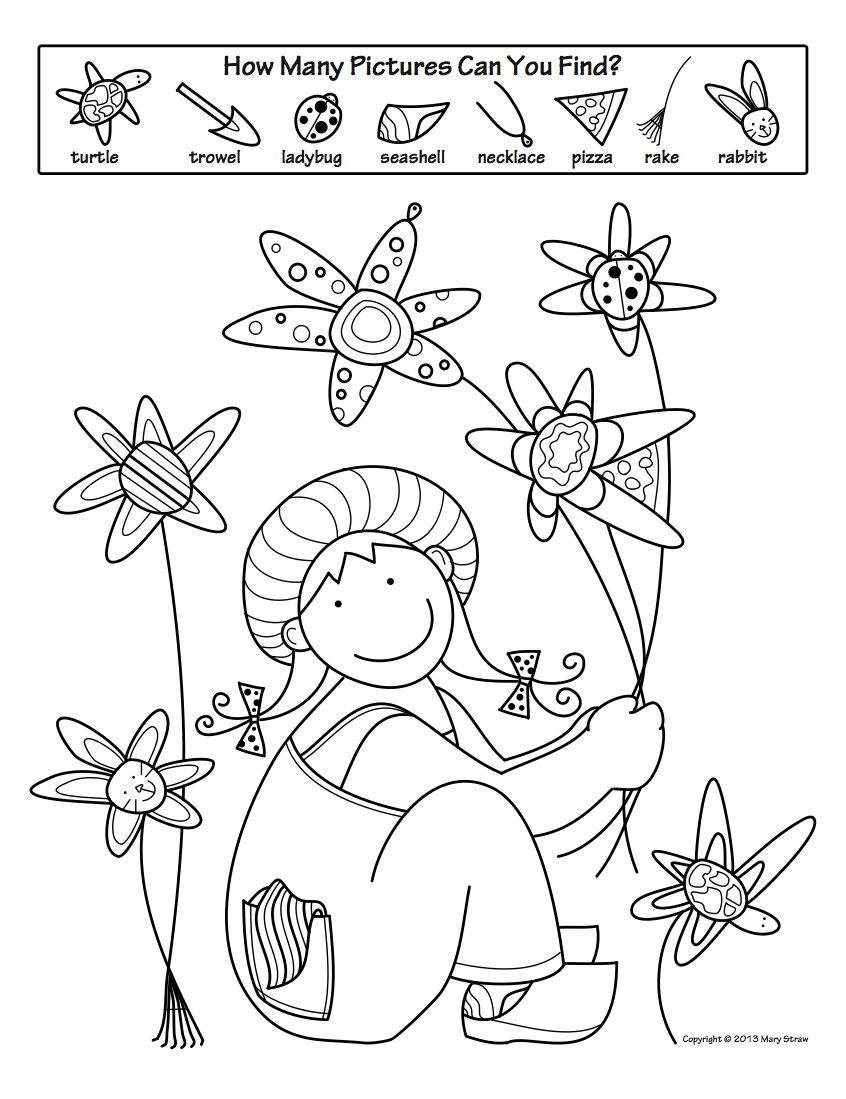 Spring activity coloring pages mary straw activity coloring pages