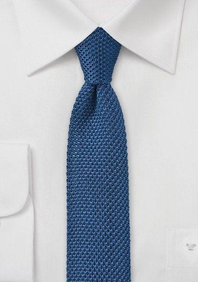 Seiden-Businesskrawatte gestrickt blaugrün