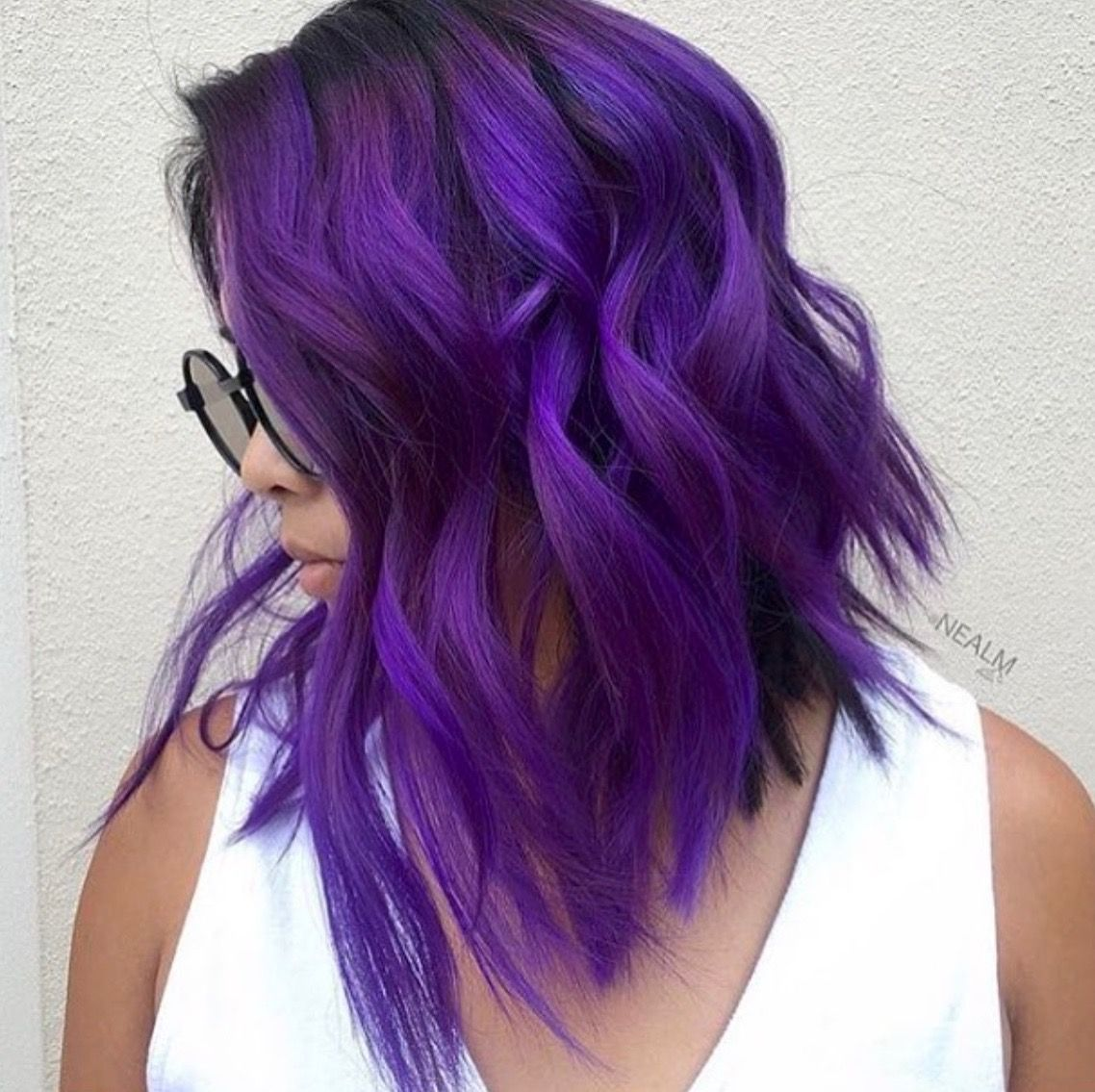 63 Purple Hair Color Ideas To Swoon Over Violet Purple Hair Dye Tips: Raw Indian Hair Extensions