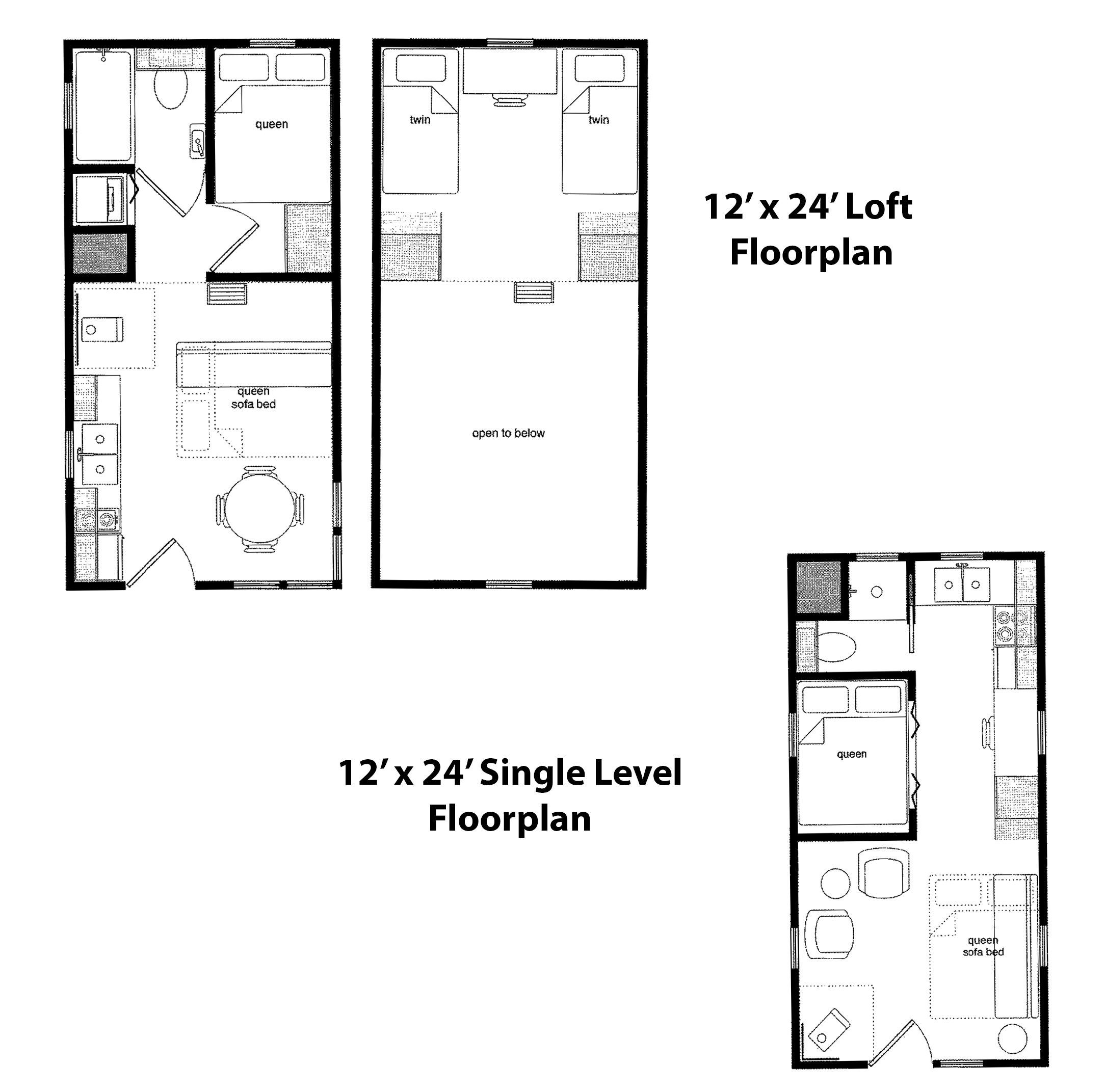 Finished right contracting offers tiny home cabin kits for 12x24 tiny house plans