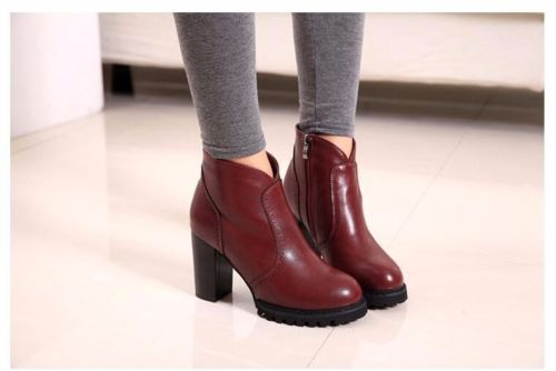 New Autumn Winter Ankle Boots Fashion Sexy High Heels Casual Pumps Shoes ITC607 | eBay