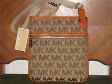 Michael Kors NWT MK Signature Jacquard Large Crossbody Bag Beige /Eb / Tangerine I LOVE MY NEW BAG!!!!