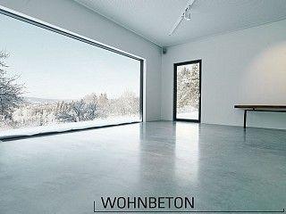 Fußboden Beton Poliert ~ Geschliffen und poliert der pflegeleichte boden stammt aus dem