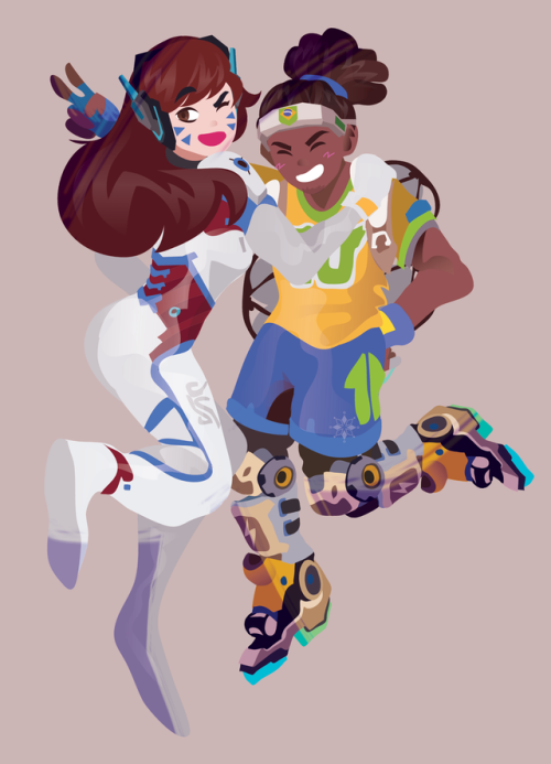 32b8f2d2d D.va and Lucio summer games | Overwatch | Overwatch wallpapers ...