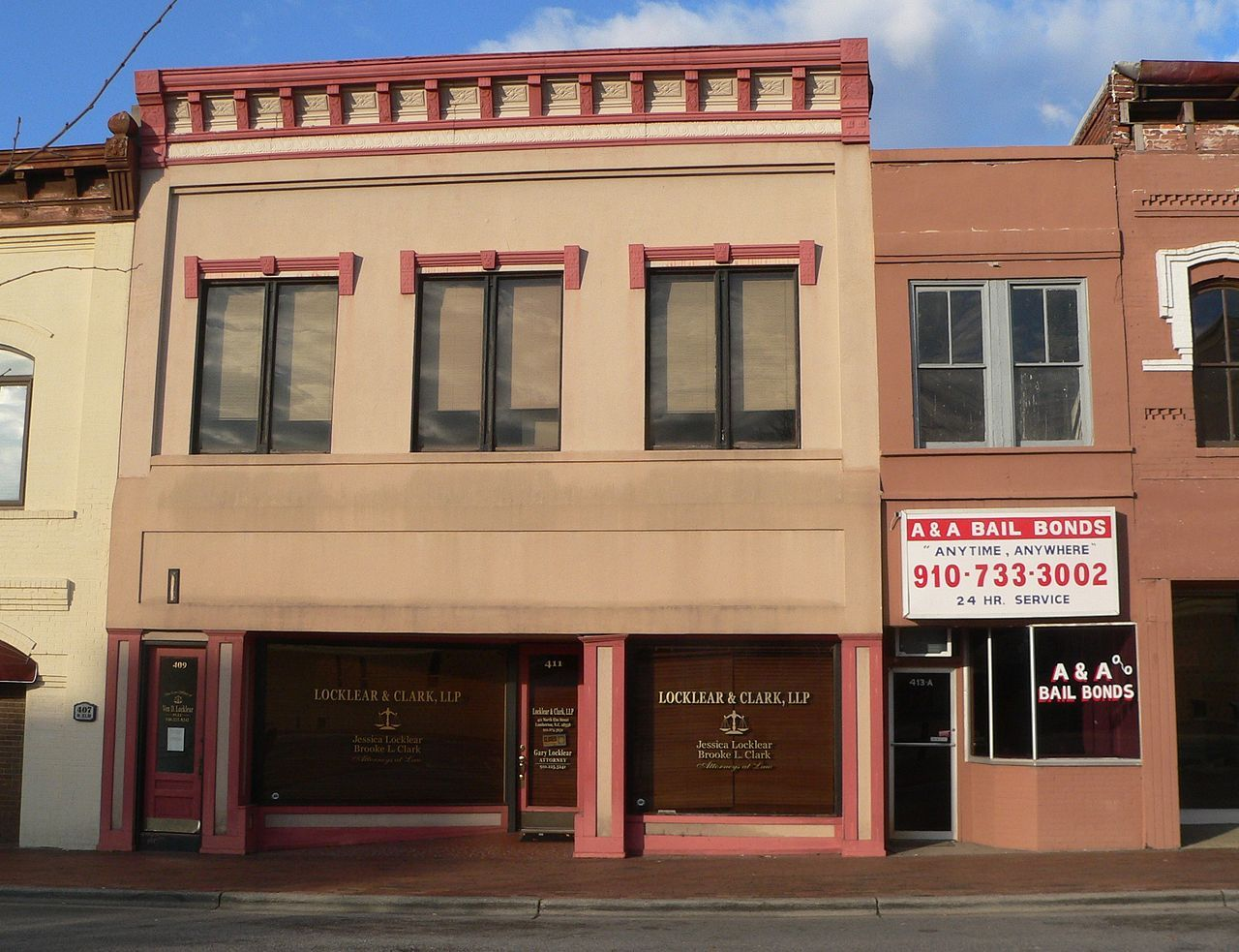 Lumberton commercial historic district in robeson county