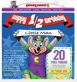 Chuck E Cheese Half Birthday Twins Birthdays Anniversaries