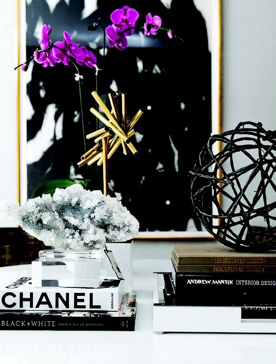 chanel book, orchids