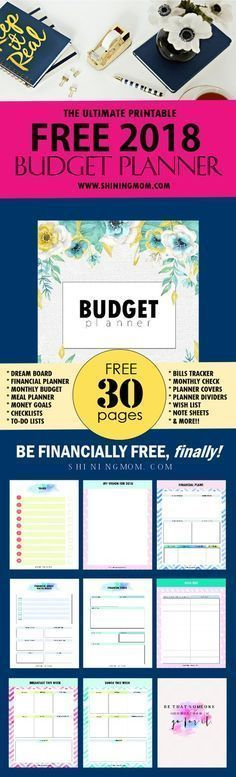 the ultimate free printable 2018 budget planner you need home