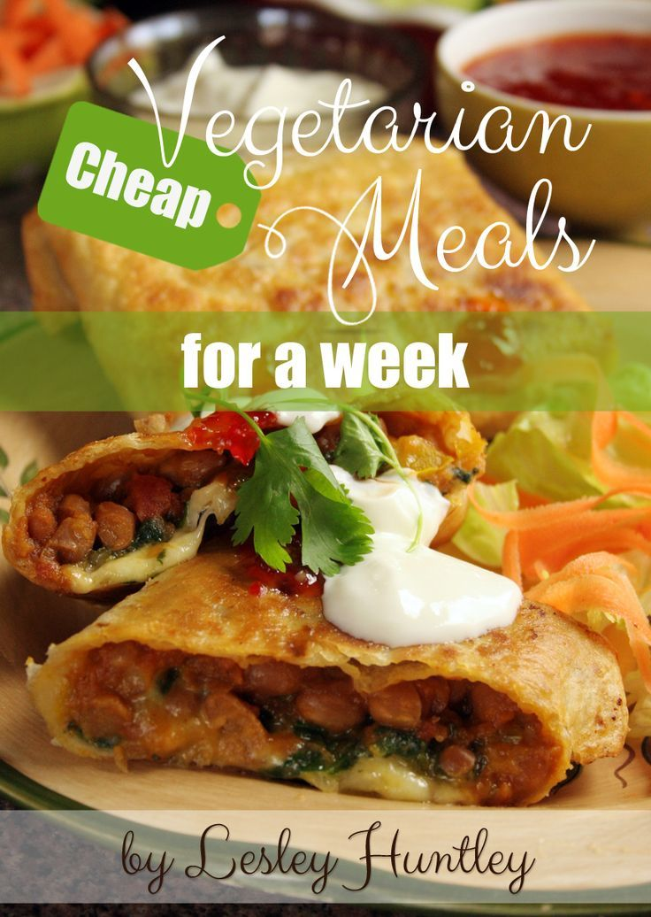 Yours Completely Free Cheap Vegetarian Meals For A Week