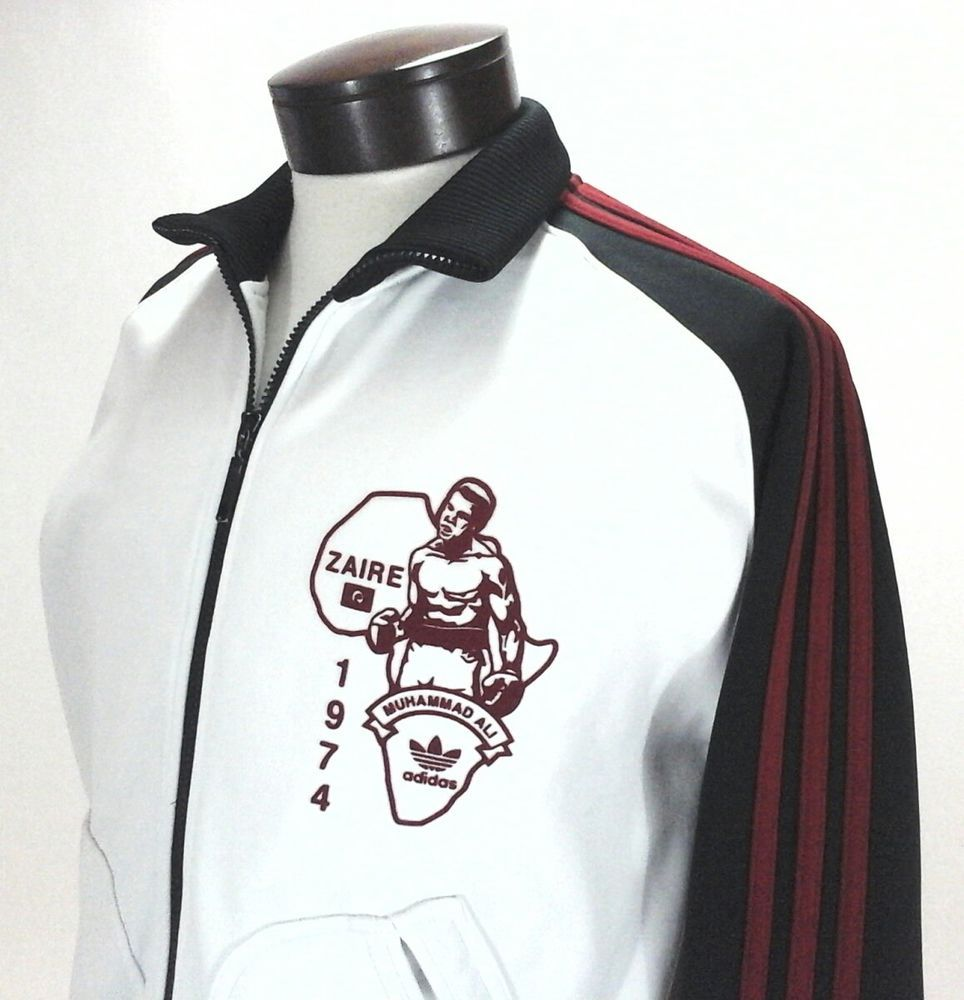 adidas track jacket black with red stripes