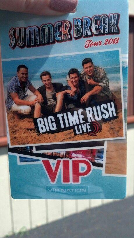 Vip badge big time rush summer break tour pittsburgh july 14 2014 vip badge m4hsunfo