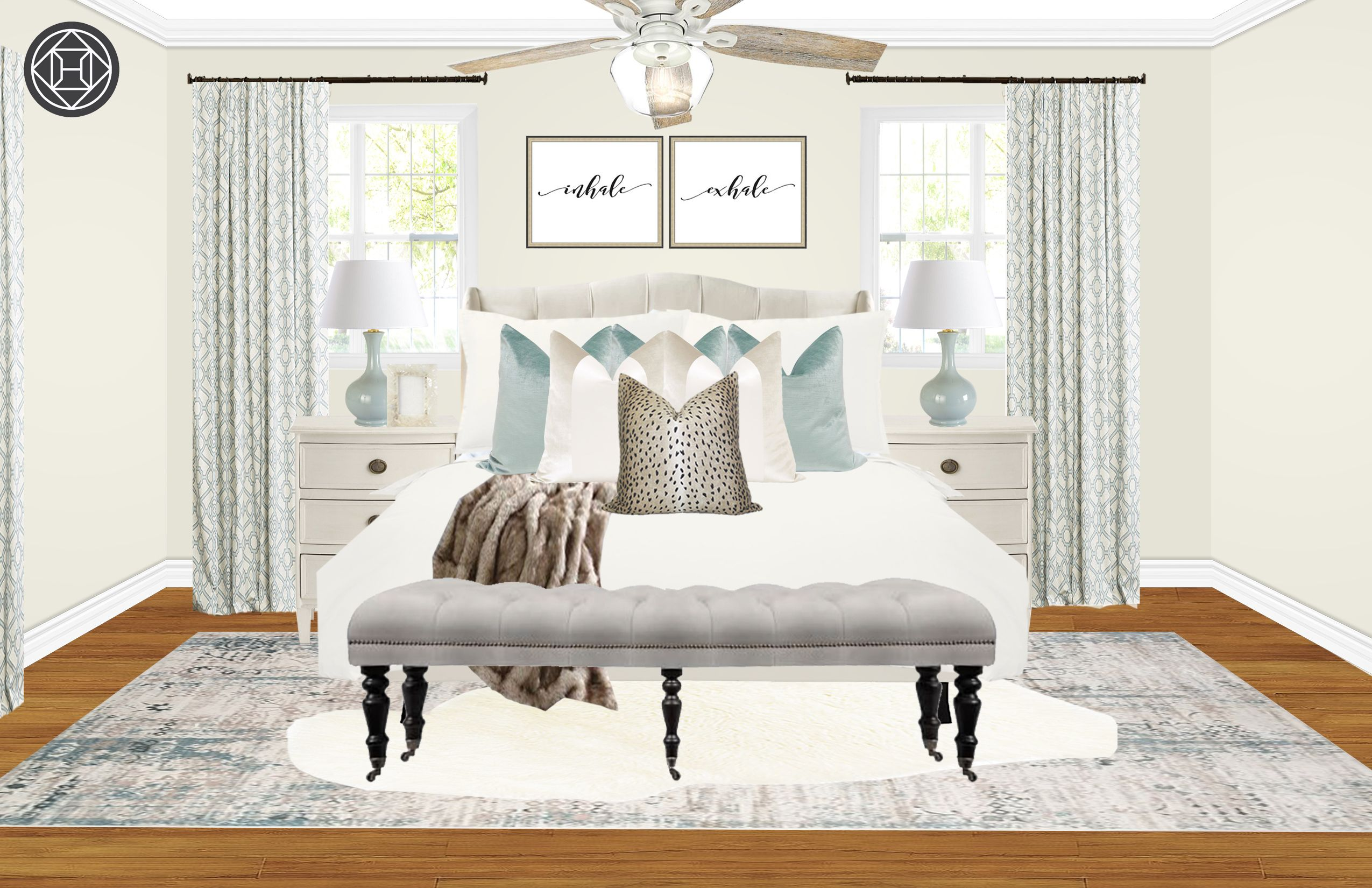 Classic glam farmhouse bedroom by havenly bedroom