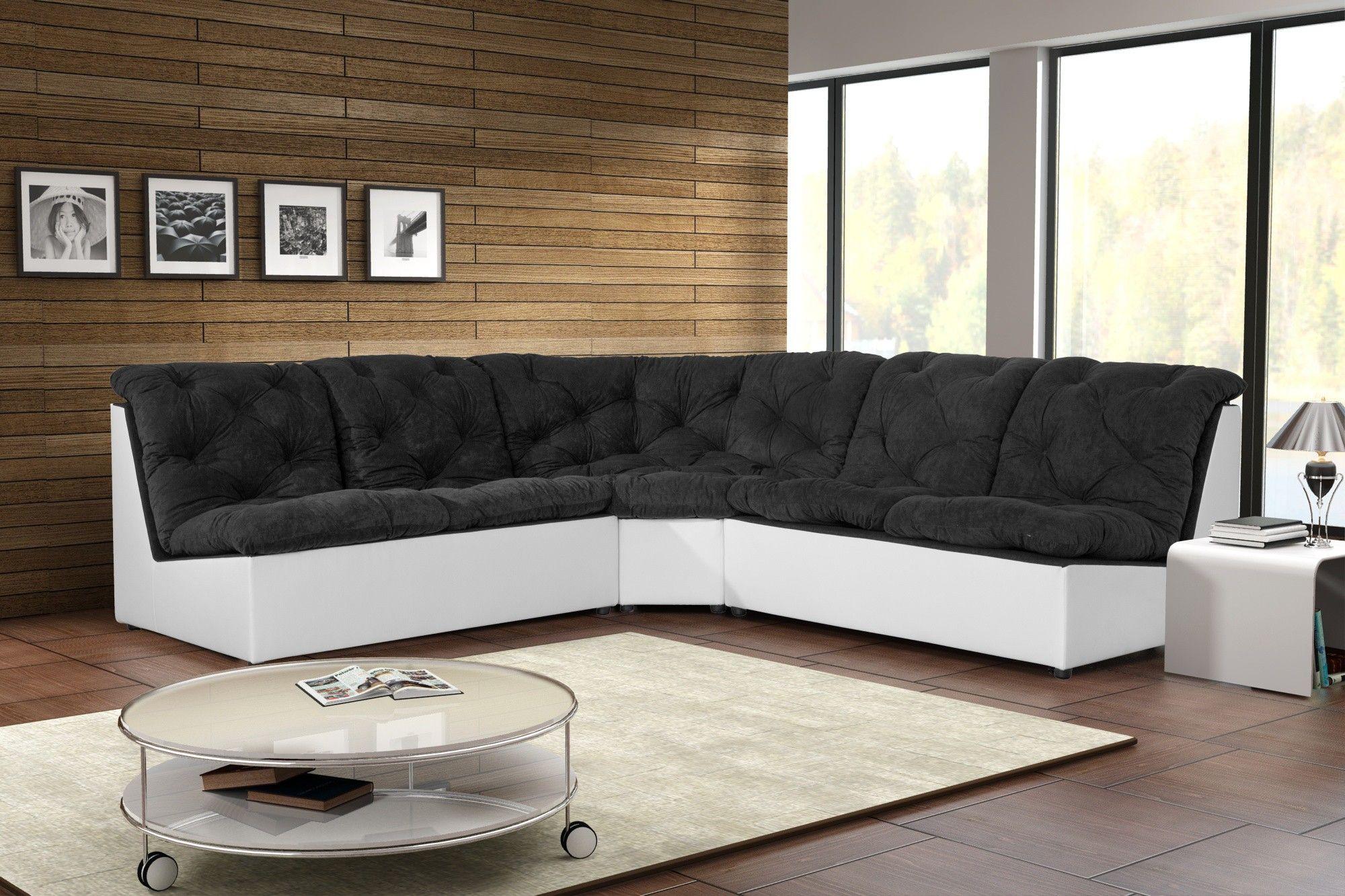 Le canapé d'angle modulable Gisela vous charmera par ses dimensions généreuses et son système de modularité.