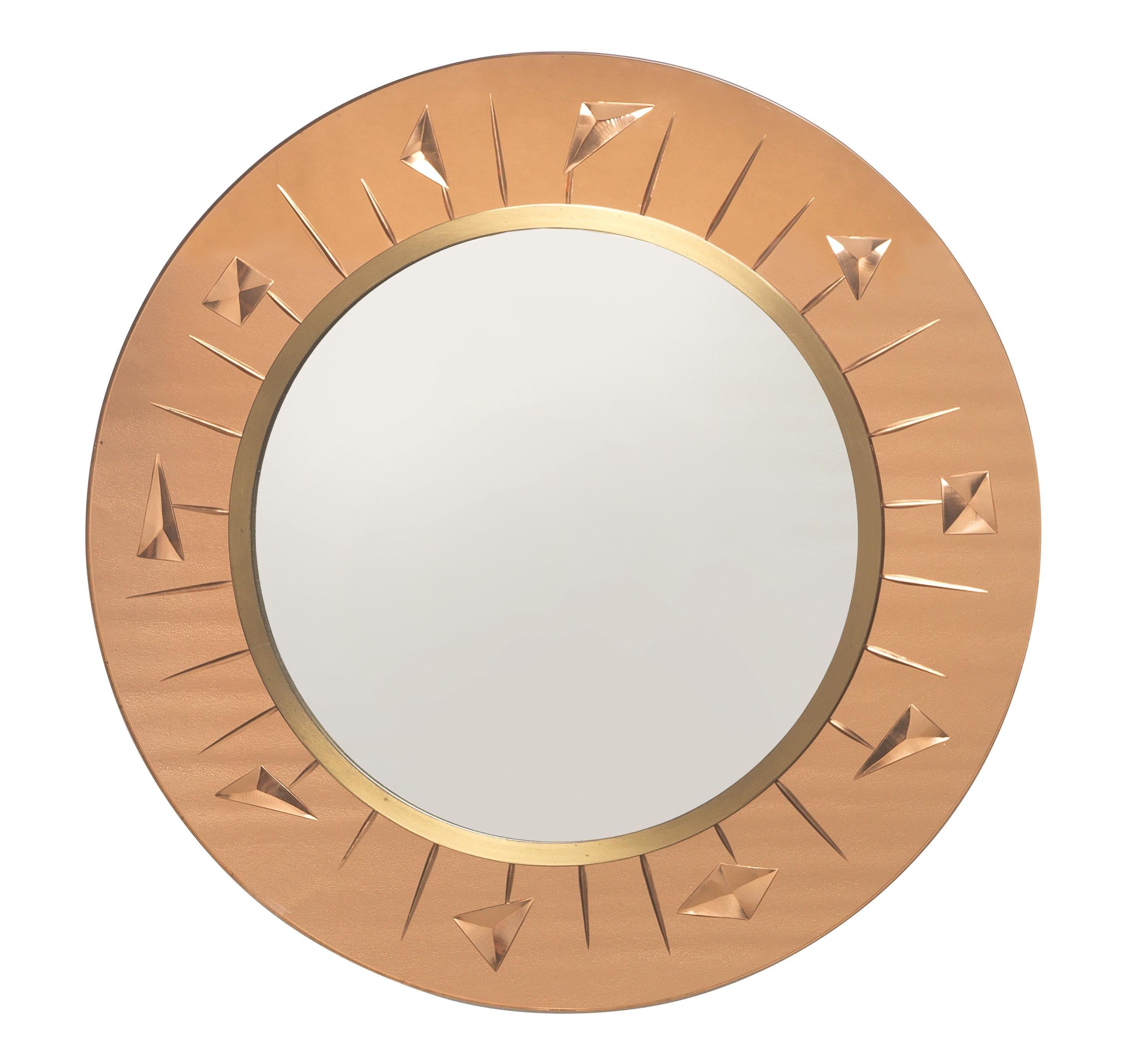 A Round Wall Mirror Cristal Art Round Wall Mirror Mirror Wall Mirror