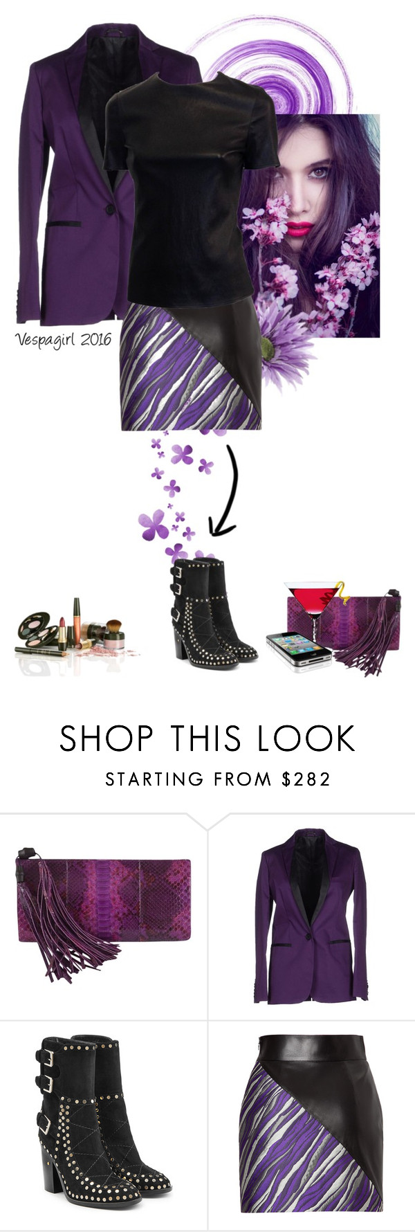 """Purple Reign"" by vespagirl ❤ liked on Polyvore featuring Gucci, Karl by Karl Lagerfeld, Laurence Dacade, FAUSTO PUGLISI and Forum"