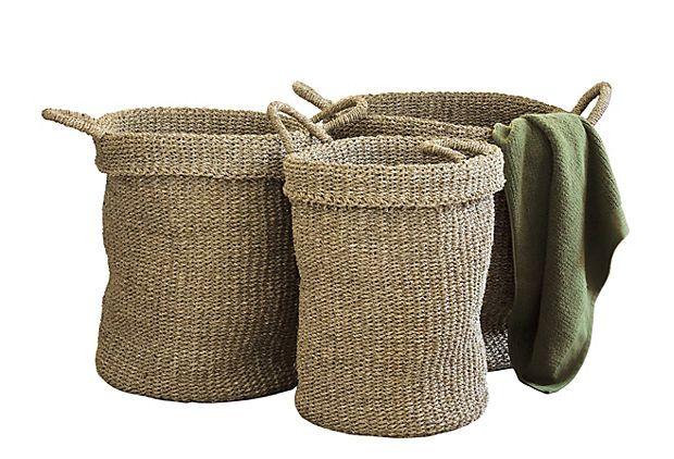S/3 Sea Grass Utility Baskets on OneKingsLane.com