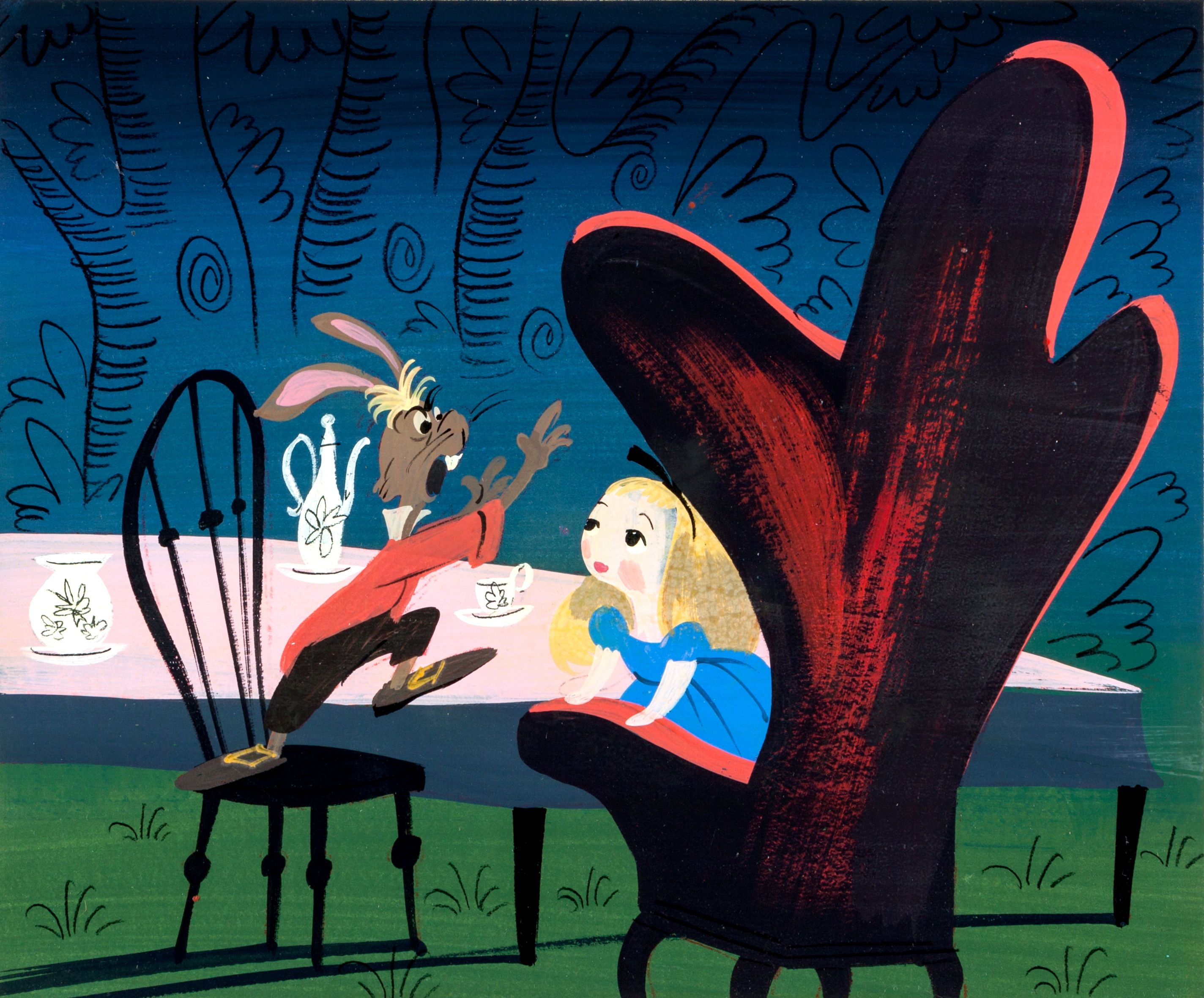 Mary Blair's concept art for Disney's Alice in Wonderland ...