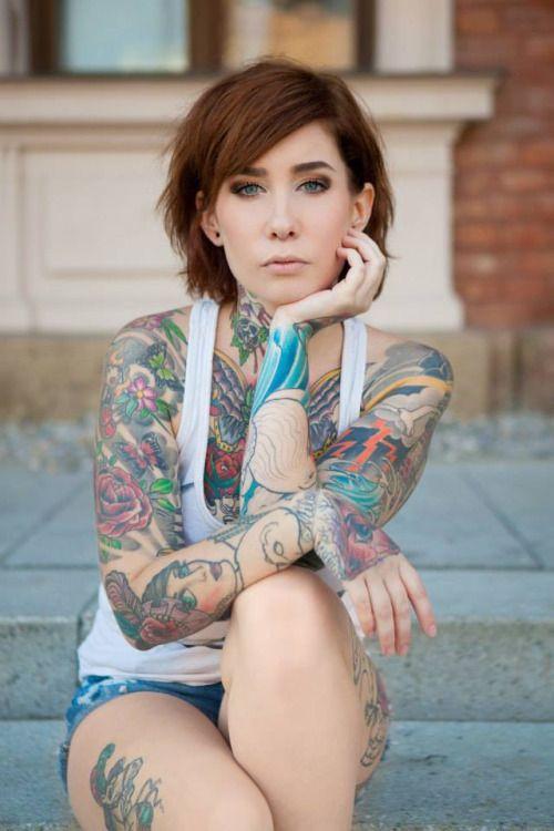 heavily tattooed females