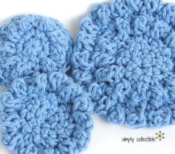 Paños redondos o reutilizables Bolas de algodón, #crochet patrón ...