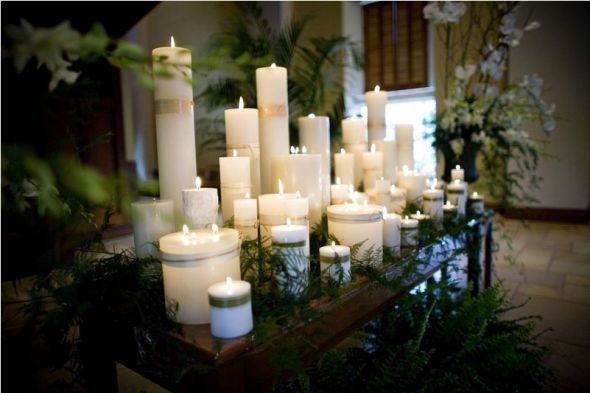 Altar Decor With Candles Wedding Altar Candles Decor Stunning Candle Arrangement On Alter 6