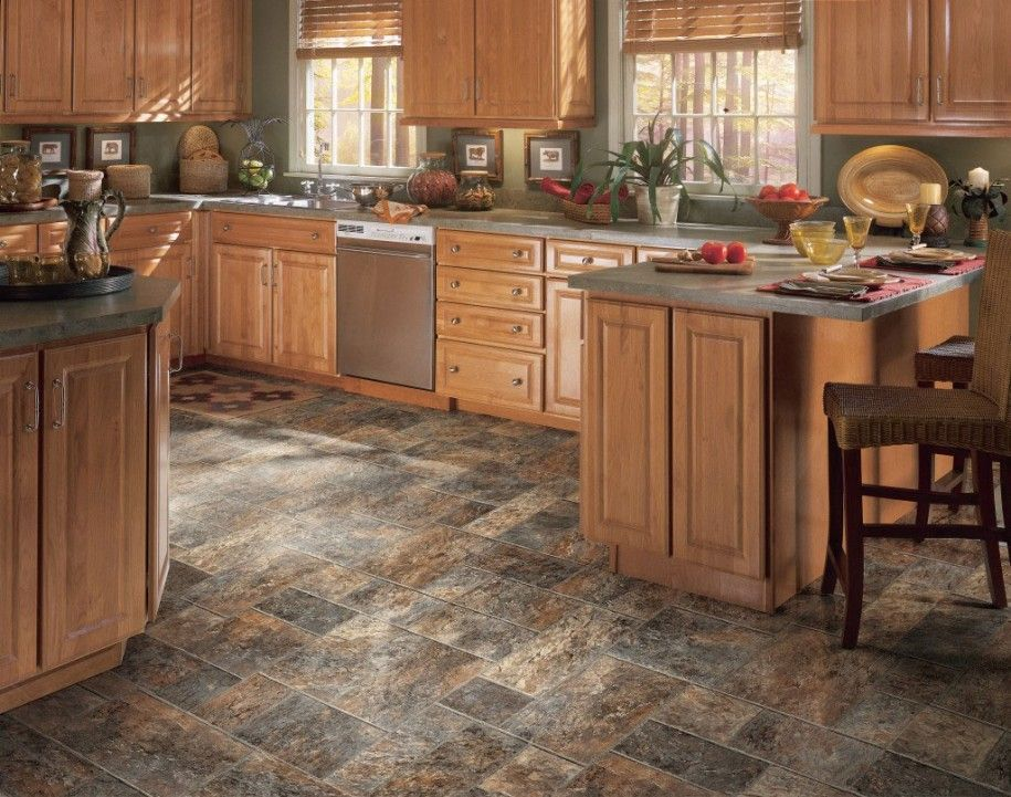 Perfect What Color Laminate Flooring With Honey Oak Cabinets And Review In 2020 Vinyl Flooring Kitchen Kitchen Vinyl Kitchen Flooring