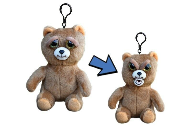 Feisty Pets Minis Sir Growls A Lot 5 Plush Bear On Keychain Backpack Clip Williammark Plush Animals