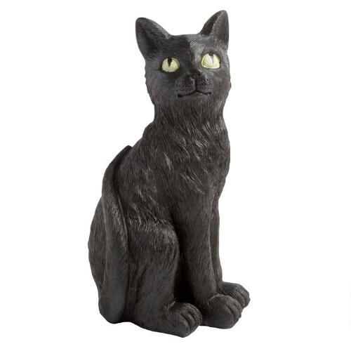 14 25 Black Cat With Glowing Eyes Christmas Tree Shops Andthat Scary Decorations Christmas Tree Shop Halloween Decorations Outdoor Yards