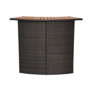 Home Styles Brown All-Weather Woven Resin Wicker Patio Bar-5800-99 at The Home Depot