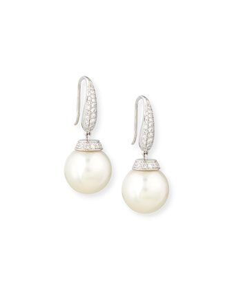Avenue+18K+White+Gold+South+Sea+Pearl+&+Diamond+Earrings+by+Belpearl+at+Neiman+Marcus.
