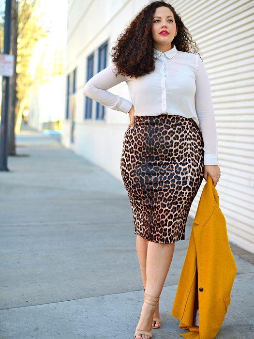 """Résultat de recherche d'images pour """"pencil skirt street style curvy"""""""