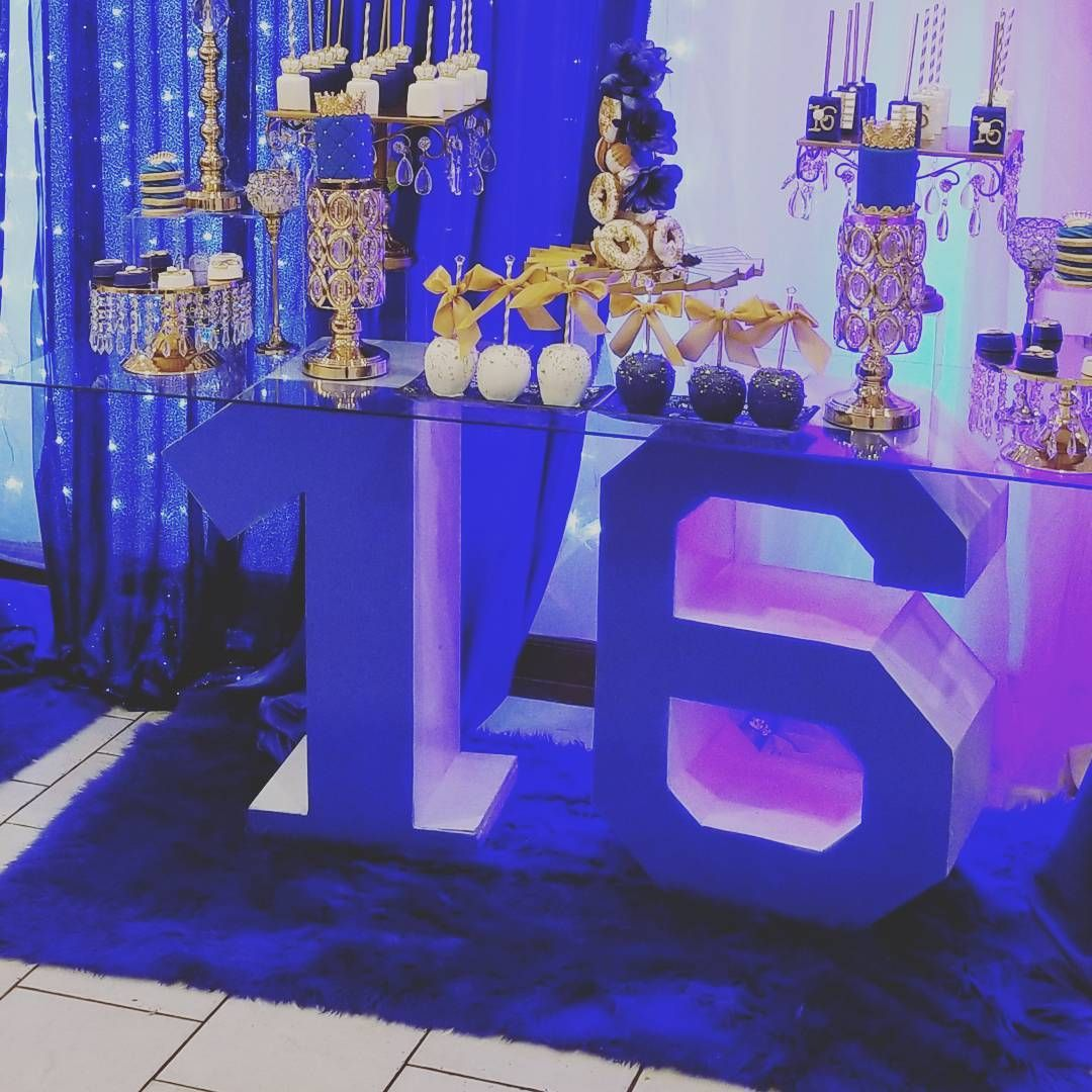 Royal blue sweet 16 letters ... #sweet16cakes