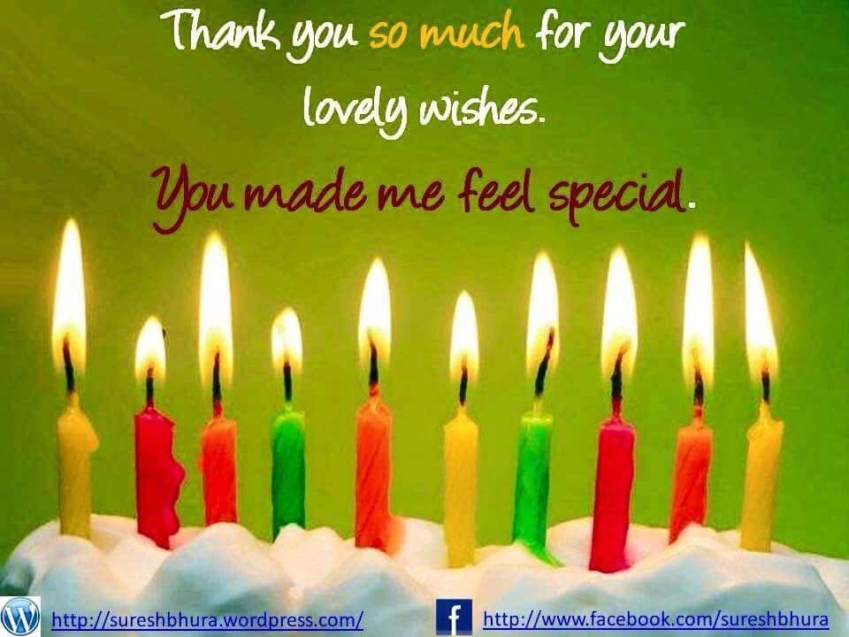 Birthday You are so welcome my beautiful friend Pamela God bless – Thank You Message for Birthday Greetings on Facebook