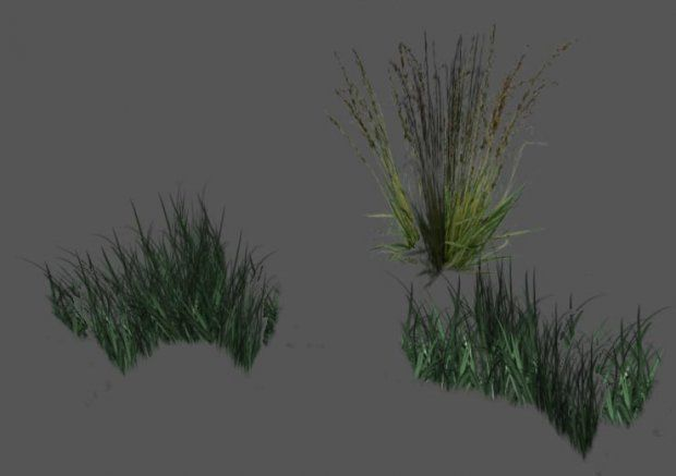 Grass (low poly) 3d model free | CS 188 3D Animation | Low