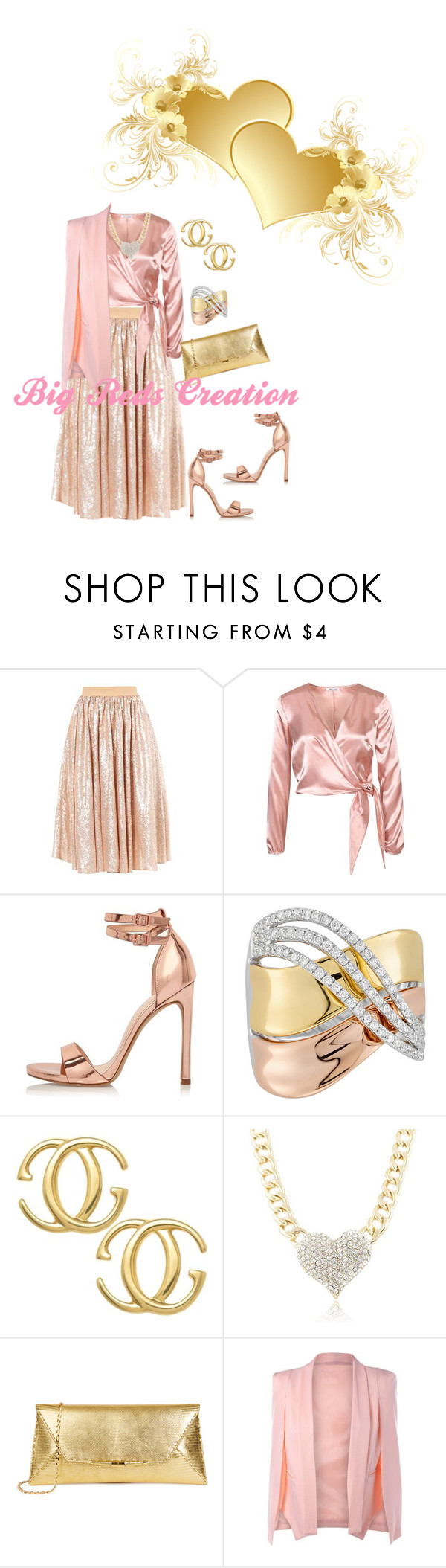 """""""Rose Gold"""" by bigreds ❤ liked on Polyvore featuring River Island and Gucci"""