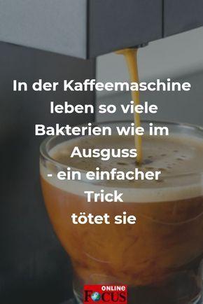 In Kaffeemaschinen leben Bakterienkolonien wie im Ausguss - so wirst du sie los - Video