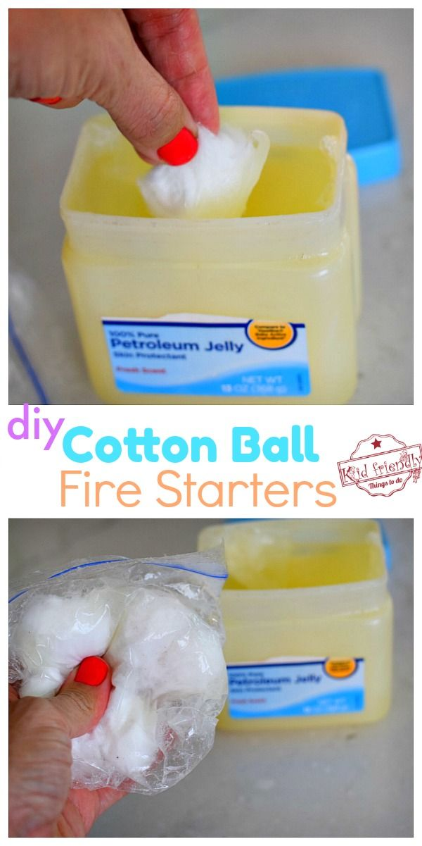 Cotton Ball DIY Fire Starter Hack for Camping